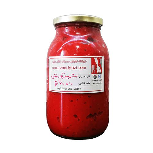 رب گوجه فرنگی خانگی طبیعی